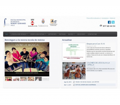 Diseño de página web para  Escola de Música Valls