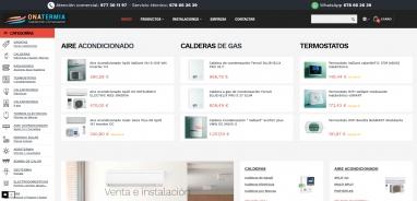 Diseño tienda virtual para empresa de venta de calefacción y aire acondicionado