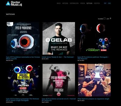 Diseño de página web para Discográfica Barcelona