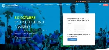 Diseño de página web Proyecto solidario deportivo