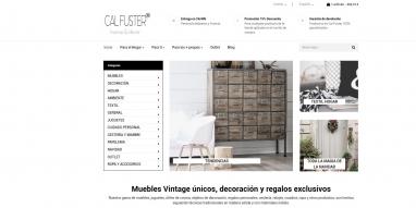 Diseño de página web para Tienda de regalos y muebles vintage