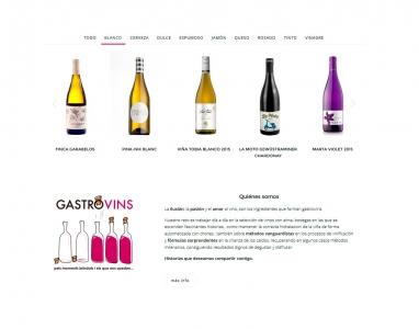 Diseño de tienda virtual para venta de vinos