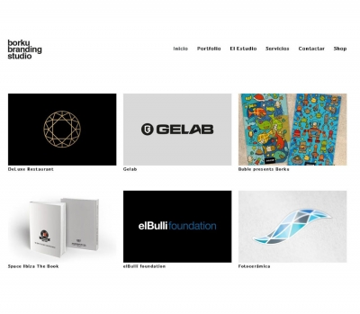 Diseño de página web para diseñador gráfico en Barcelona