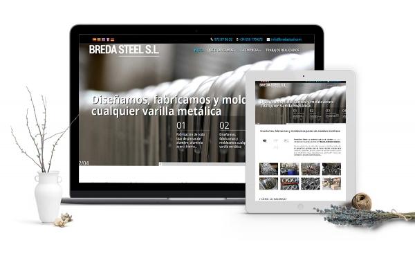 Diseño web corporativo para empresa de fabricación de alambres en Girona