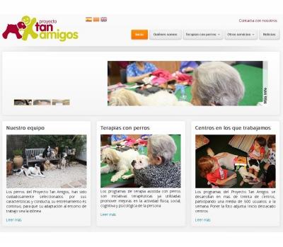 Diseño de página web de Terapias asistidas con perros