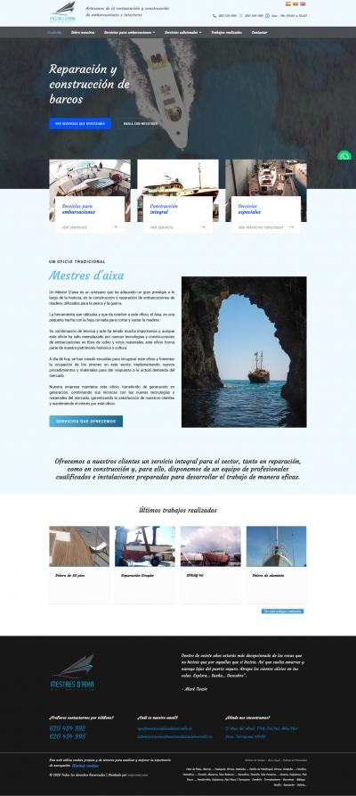 Diseño web para empresa de restauración de barcos en Tarragona
