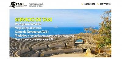 Diseño web para Taxi Tarraco en Tarragona