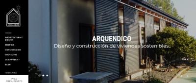 Diseño página web para constructora de casas ARQUENDICO