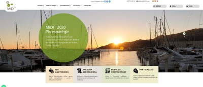Diseño web para web corporativa Midit 2020