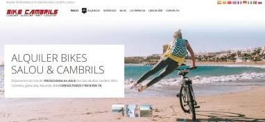 Diseño web para tienda de alquiler de bicicletas en Cambrils