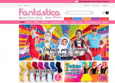 Diseño de página web paraTienda de complementos disfraces