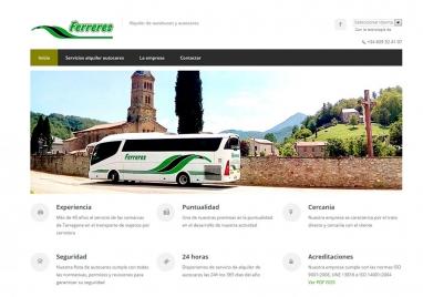 Diseño de página web para empresa de alquiler de buses