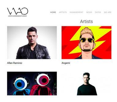 Diseño de página web agencia Discográfica de DJ y artistas