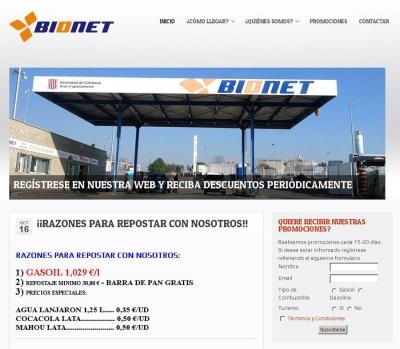 Diseño de página web para Gasolinera en Tarragona