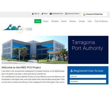 Diseño de página web para European Med-PCS Project