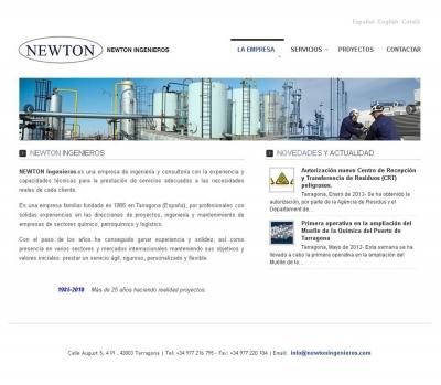 Diseño de página web para empresa de ingenieria