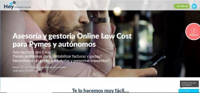 Diseño para gestoría online Low Cost