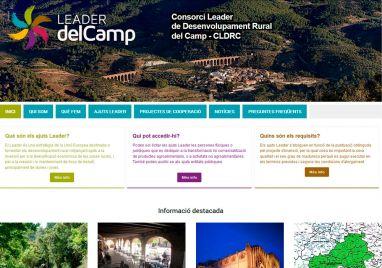 Diseño de página web para Leader del Camp