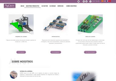 Design website for company drum filling machines