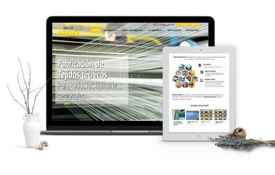 Diseño de página corporativa para empresa téxtil en Tarragona