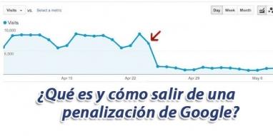 Penalización de Google dominios webs o blogs