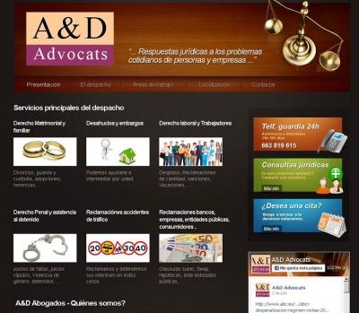 Diseño de página web para abogados en Tarragona