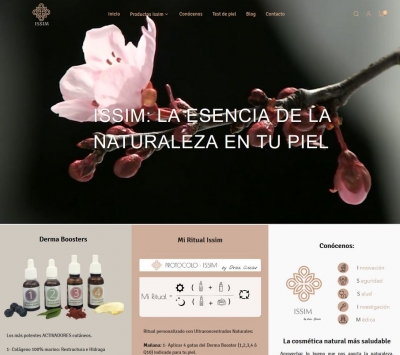 Diseño web para tienda de cosmética ecológica y vegana en salou