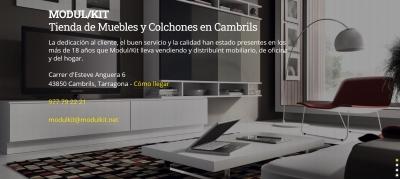 Diseño web empresa de muebles en Cambrils y venta Colchones