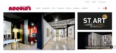 Diseño web galería de arte Anquins en Reus