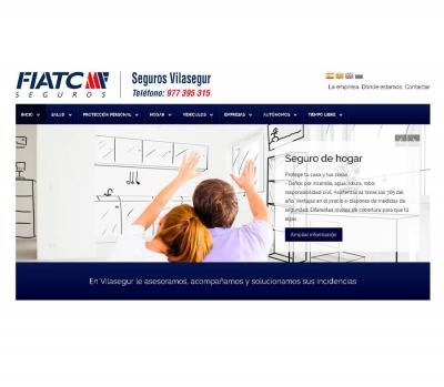 Diseño de página web agencia de seguros