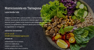 Diseño web para nutricionista en Tarragona