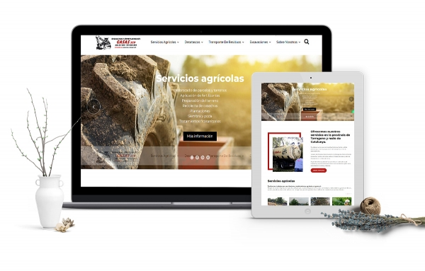 Diseño de página web corporativa para empresa servicios agricolas