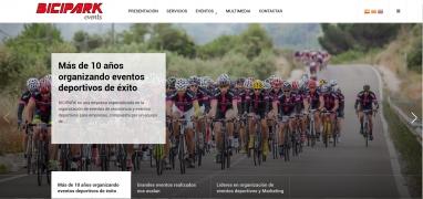 Diseño de website para empresa de Organización de eventos deportivos