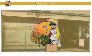 Diseño de landing page para empresa de loteriás en tarragona