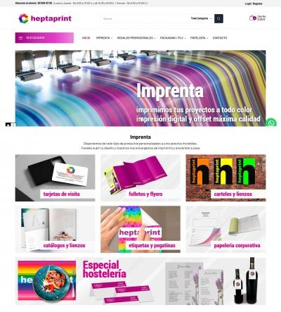 Diseño web para Imprenta en Barcelona