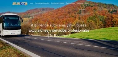Diseño página web para empresa de alquiler de bus