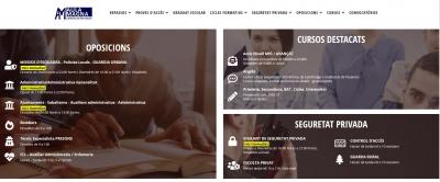 Diseño de página web para Academia de formación