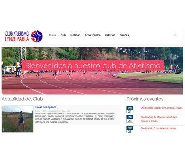 Diseño de página web para Club Atletismo