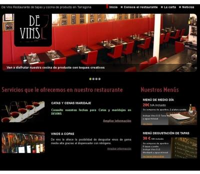 Diseño de página web para restaurante en Tarragona