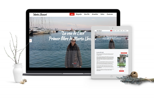 Diseño de blog para escritora en Tarragona