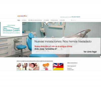 Diseño de página web clínica dental en Barcelona