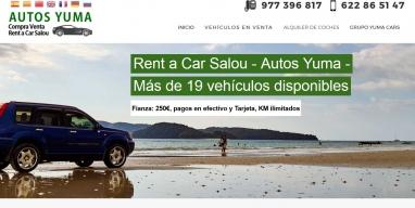 Diseño de página web para Alquiler de coches en Salou