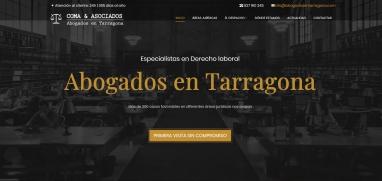 Diseño de página web para empresa de abogados en Tarragona