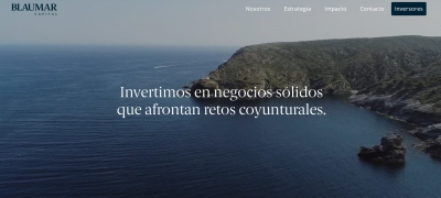 Diseño web Landing page para Grupo inversor en Barcelona Blaumar Capital