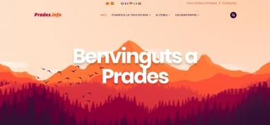 Diseño de página web para portal de Prades