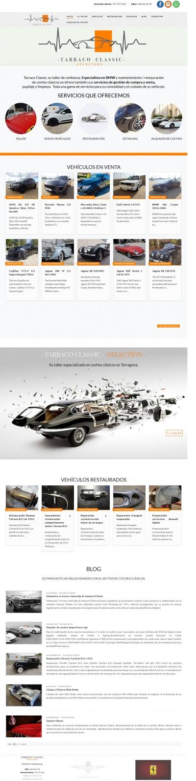 Diseño de página web para taller de coches clásicos