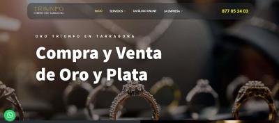 Diseño de página web para tienda de oro en tarragona