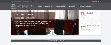 Diseño de página web para bufete de abogados en Tarragona