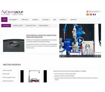 Diseño de página web para Empresa de soluciones de envasado de líquidos