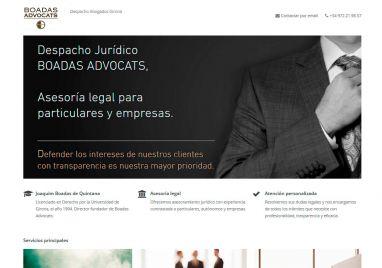 Diseño de página web para Bufete Boadas Advocats